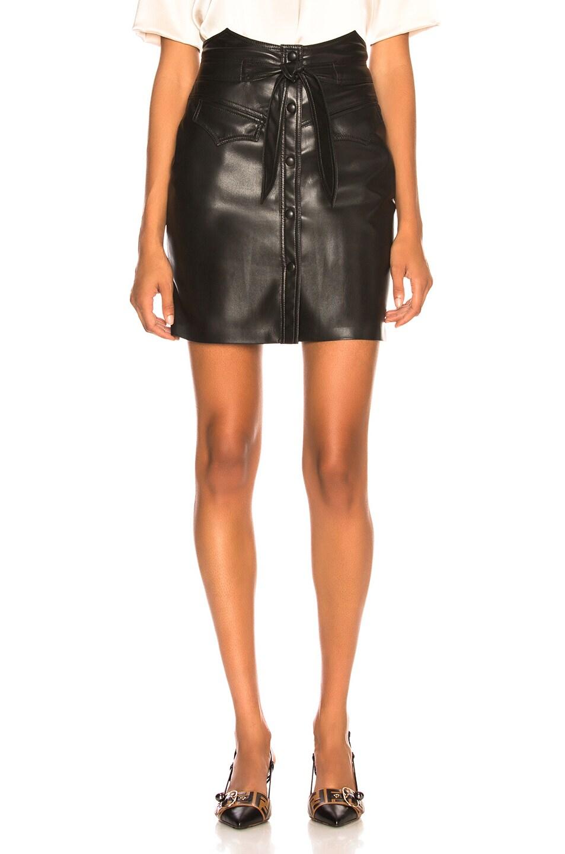 Image 1 of Nanushka Reese Skirt in Black