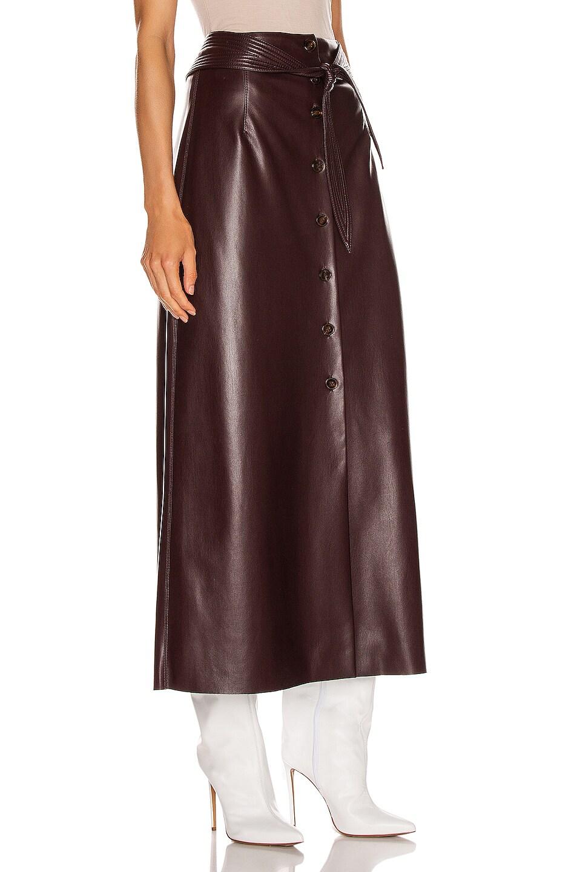 Image 2 of Nanushka Arfen Skirt in Aubergine