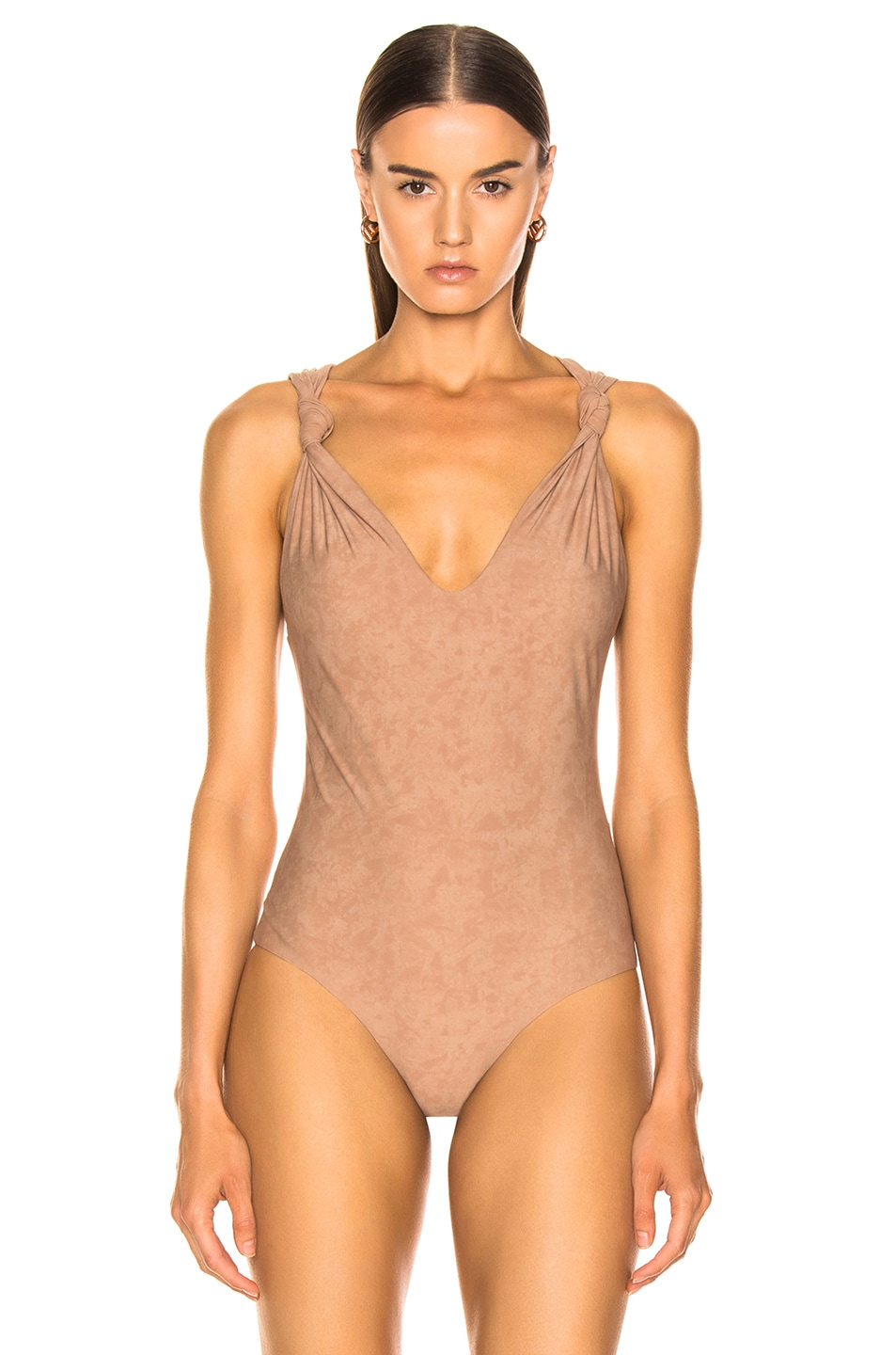 Image 2 of Nanushka Fran Bodysuit in Cold Taupe