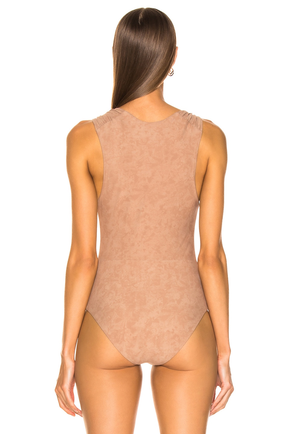 Image 4 of Nanushka Fran Bodysuit in Cold Taupe