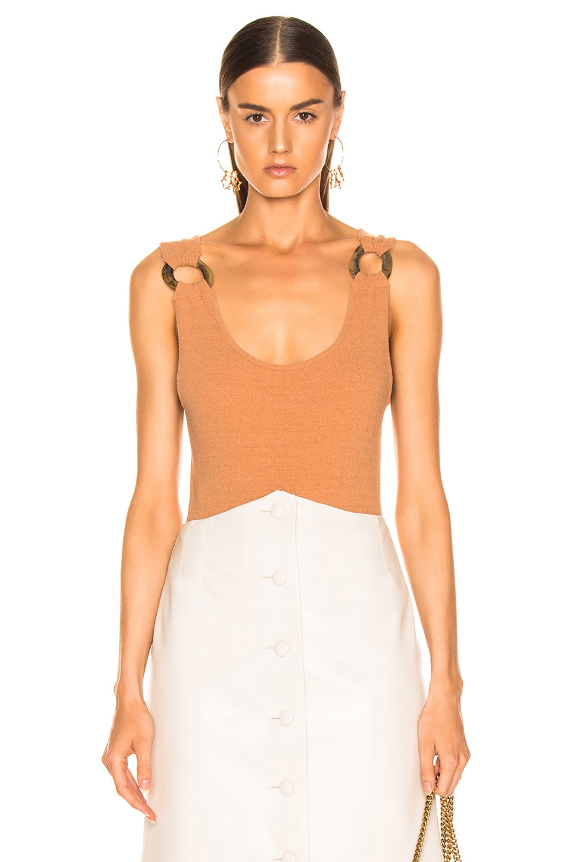 Image 1 of Nanushka Maike Bodysuit in Caramel