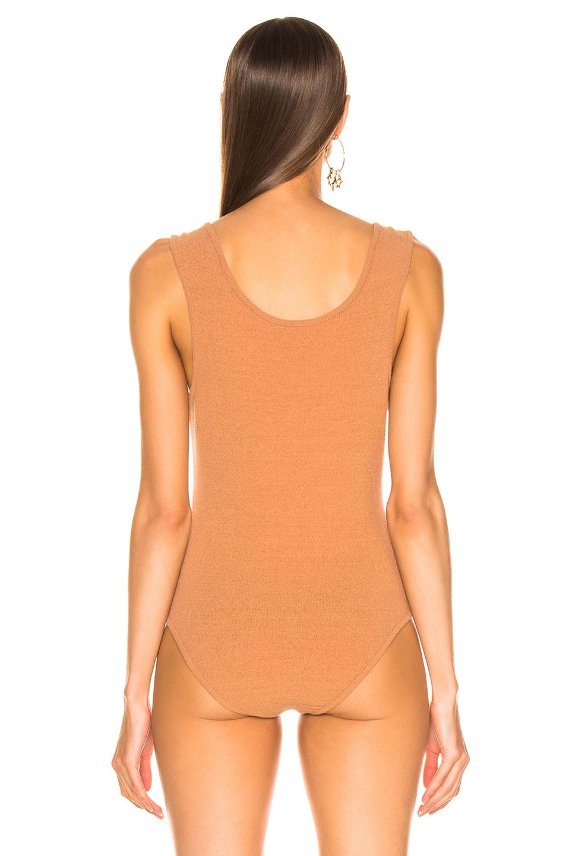 Image 4 of Nanushka Maike Bodysuit in Caramel