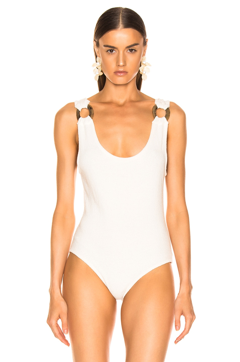 Image 2 of Nanushka Maike Bodysuit in Creme