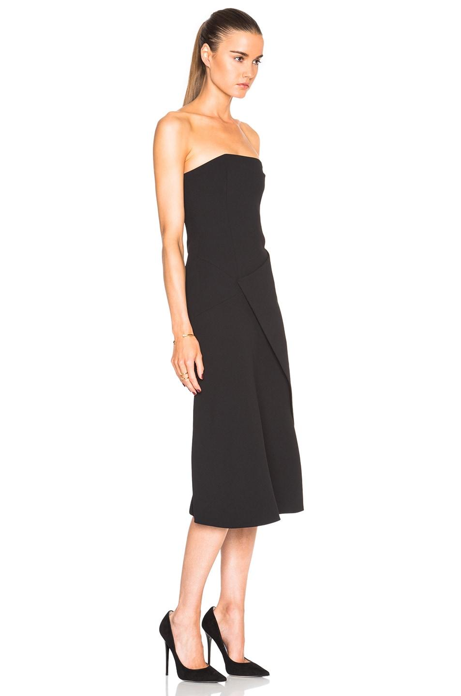 849f7fe573064 Image 3 of NICHOLAS Front Wrap Dress in Black