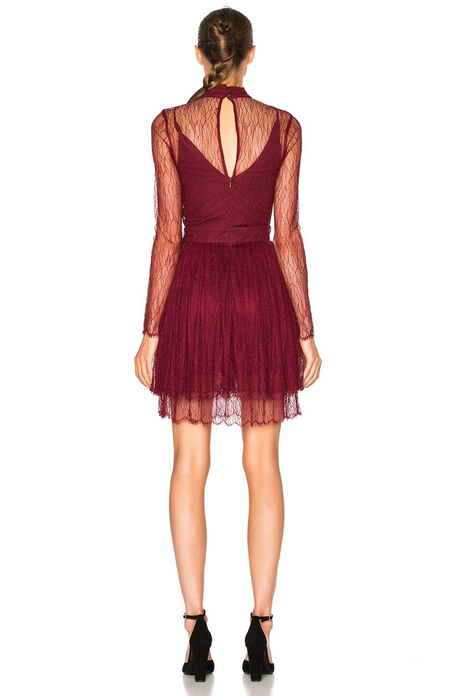 Image 4 of NICHOLAS Long Sleeve Mini Dress in Burgundy