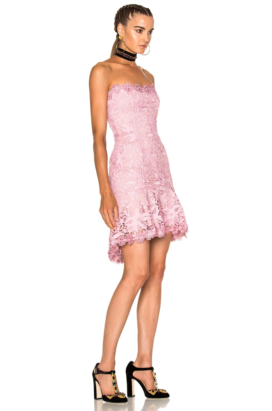 NICHOLAS Bellflower Strapless Mini Dress In Pink. in Peony ...