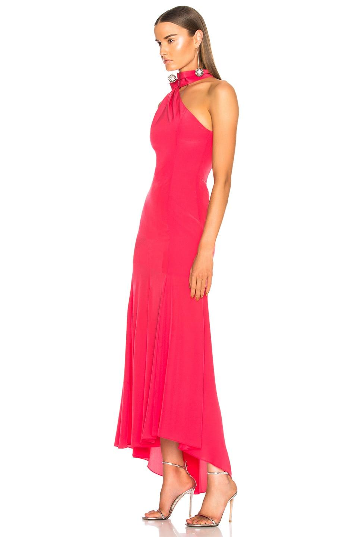 Image 3 of NICHOLAS Tie Neck Maxi Dress in Hot Coral