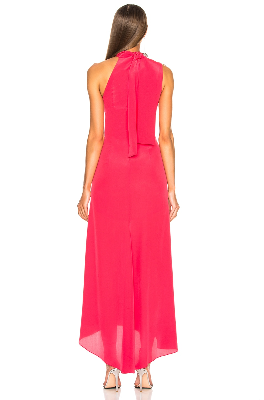 Image 4 of NICHOLAS Tie Neck Maxi Dress in Hot Coral