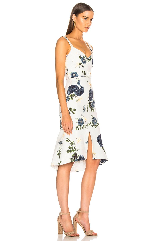 Image 2 of NICHOLAS Flare Midi Dress in Blue Rose