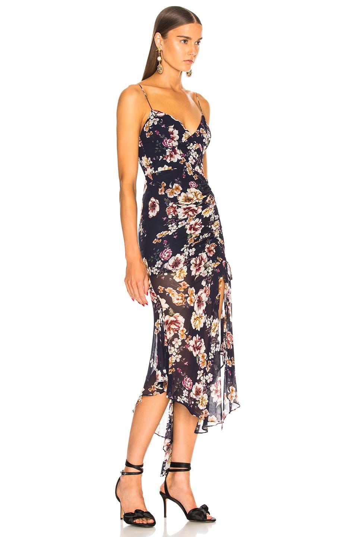 Image 2 of NICHOLAS Garden Rose Drawstring Dress in Navy