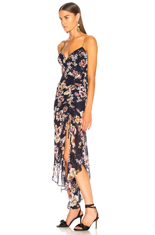 Image 3 of NICHOLAS Garden Rose Drawstring Dress in Navy