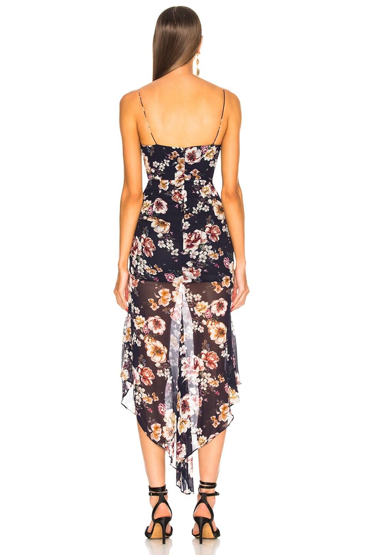 Image 4 of NICHOLAS Garden Rose Drawstring Dress in Navy
