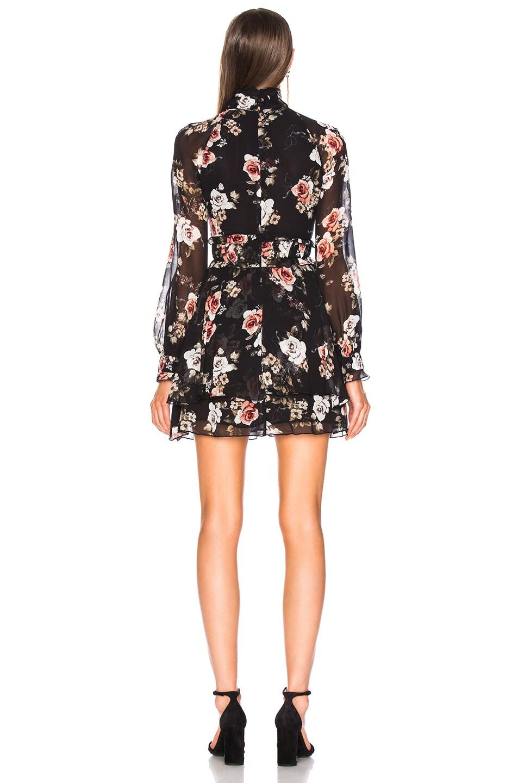 Image 3 of NICHOLAS High Neck Mini Dress in Black Rose