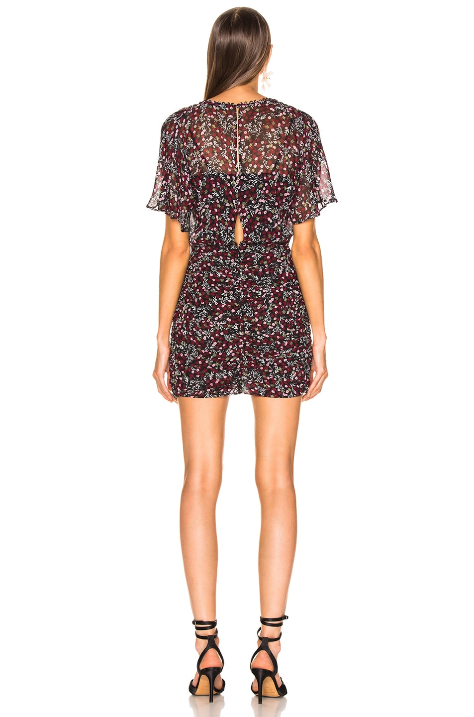Image 3 of NICHOLAS Mini Daisy Ruched Mini Dress in Floral