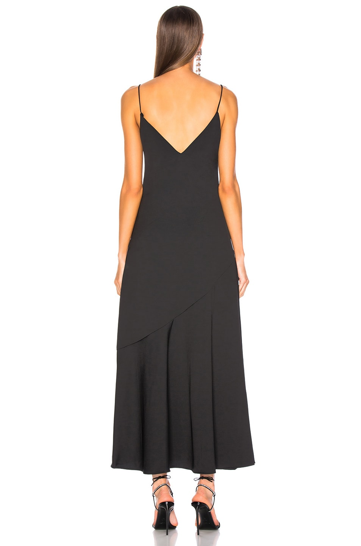 Image 3 of NICHOLAS Satin Crepe Slip Panel Dress in Black