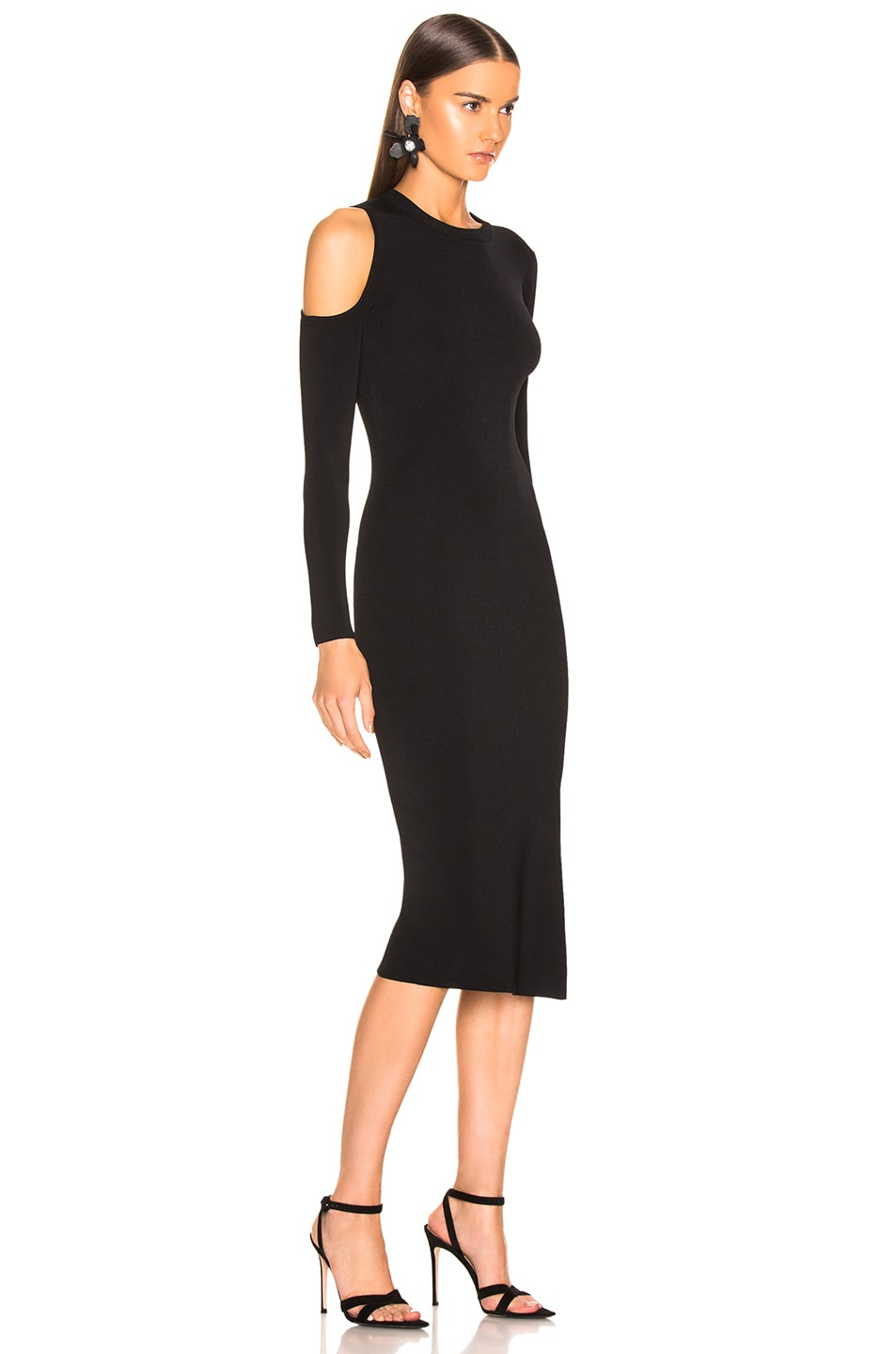 Image 2 of NICHOLAS Compact Cold Shoulder Dress in Black