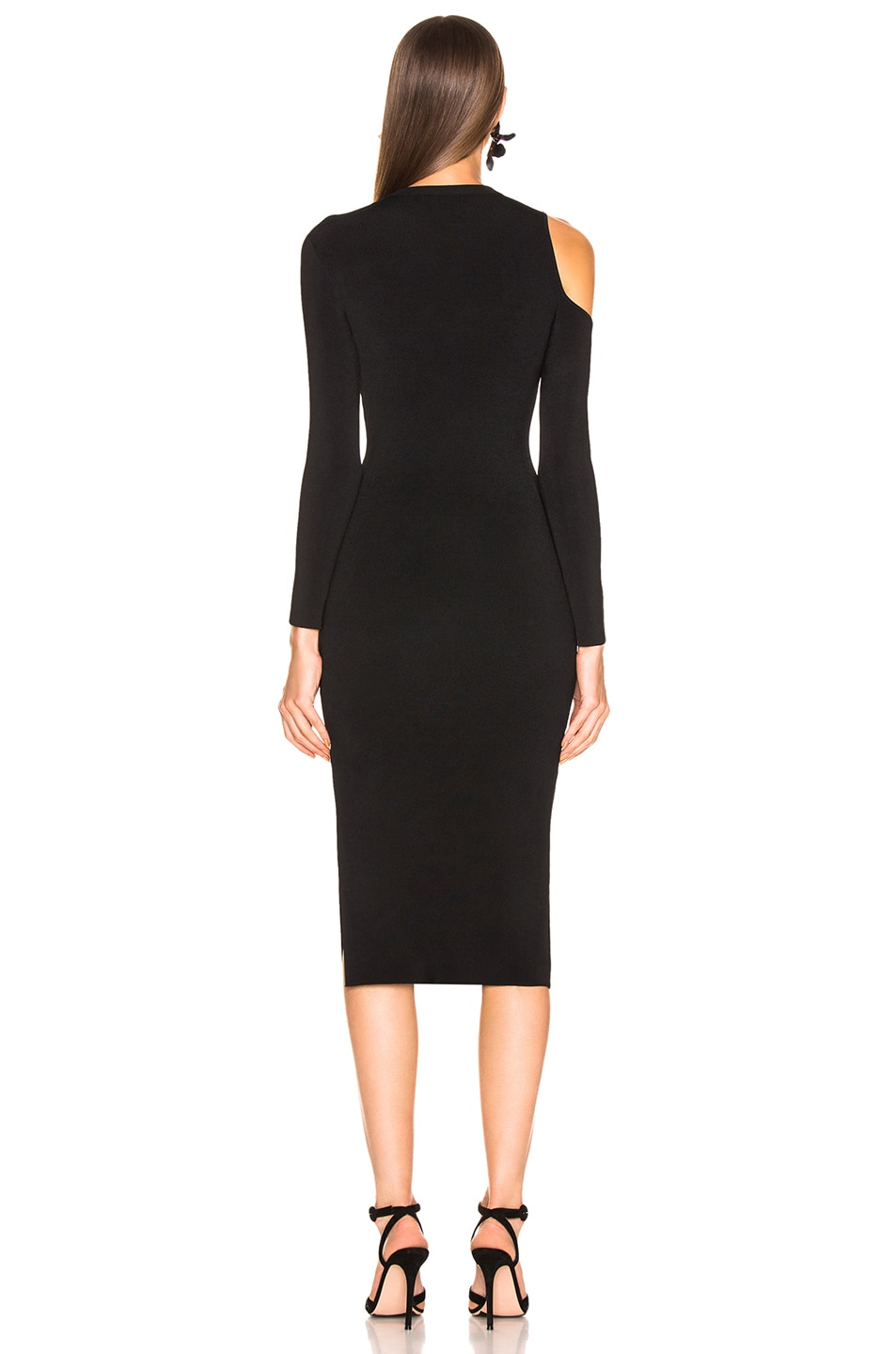 Image 4 of NICHOLAS Compact Cold Shoulder Dress in Black