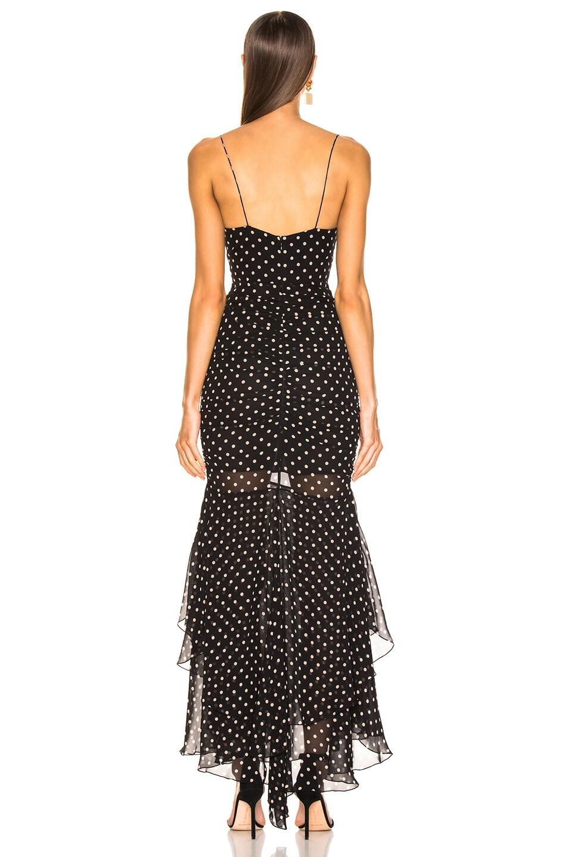 Image 4 of NICHOLAS Polka Dot Drawstring Dress in Black