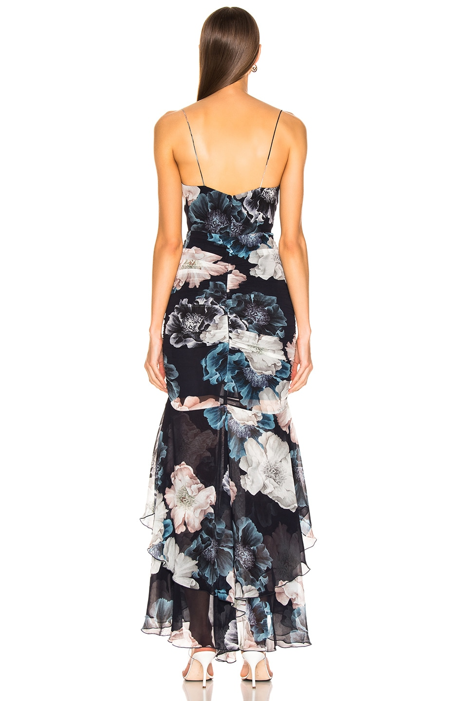Image 3 of NICHOLAS Floral Drawstring Dress in Midnight
