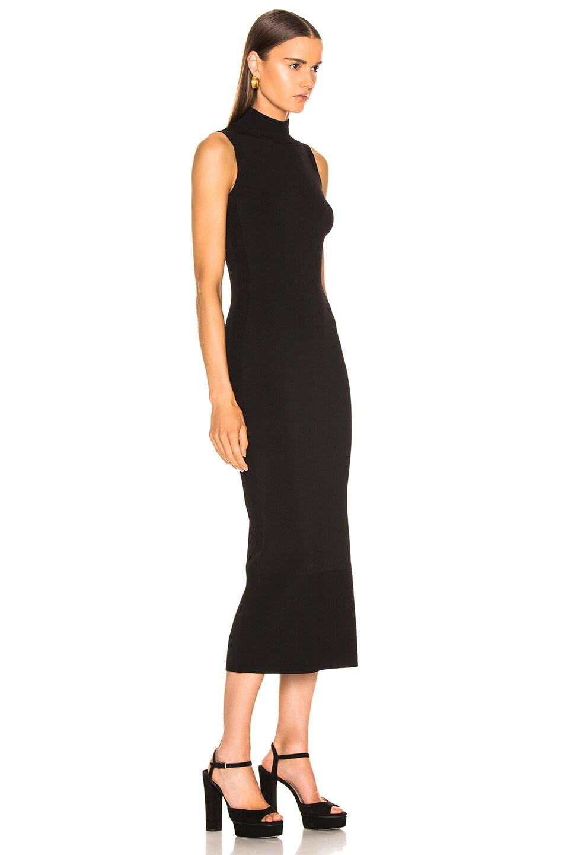 Image 2 of NICHOLAS Compact Column Slit Dress in Black