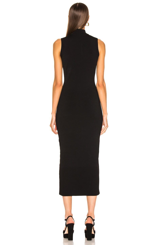 Image 4 of NICHOLAS Compact Column Slit Dress in Black