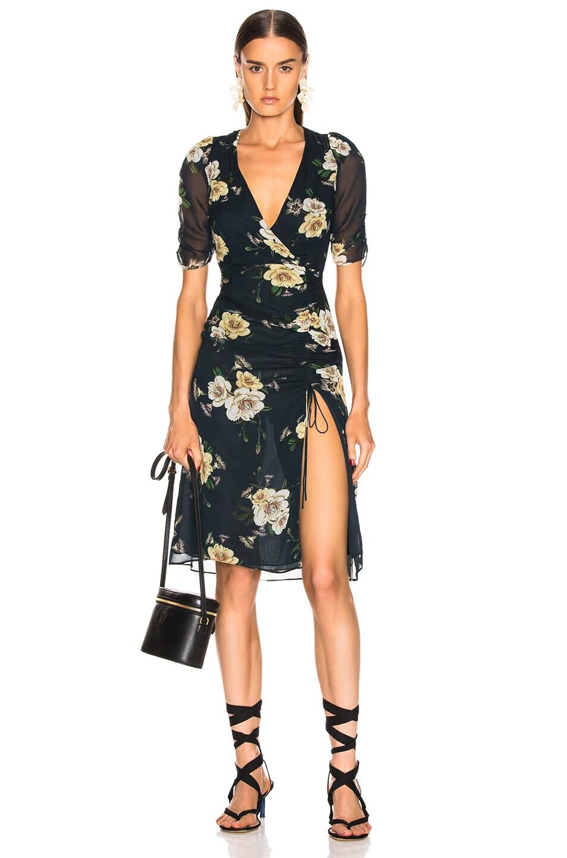 Image 1 of NICHOLAS Tea Dress in Sapphire Multi