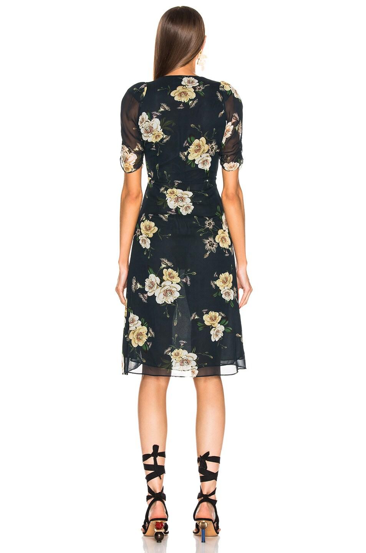 Image 3 of NICHOLAS Tea Dress in Sapphire Multi