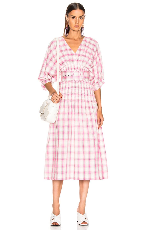 Image 1 of NICHOLAS Smocked Panel Dress in Peony Multi