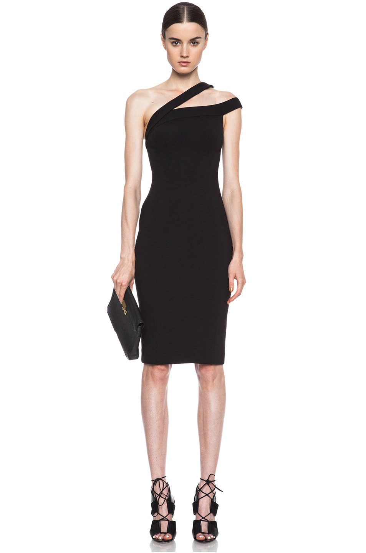 Image 1 of NICHOLAS Ponti Off The Shoulder Viscose-Blend Dress in Black