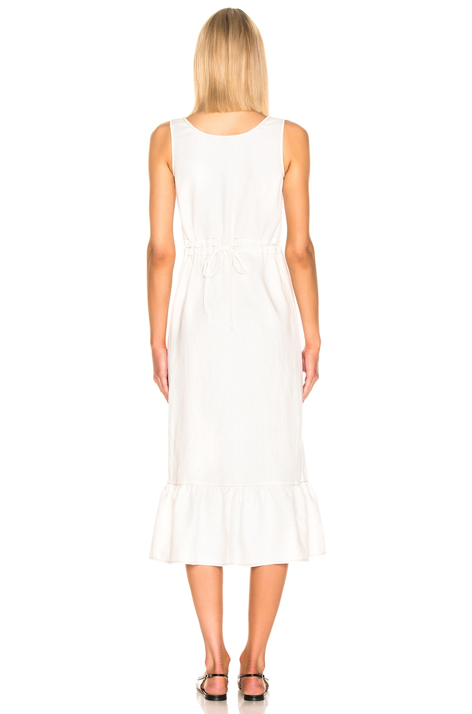 Image 3 of NICHOLAS Button Front Garden Dress in Ivory