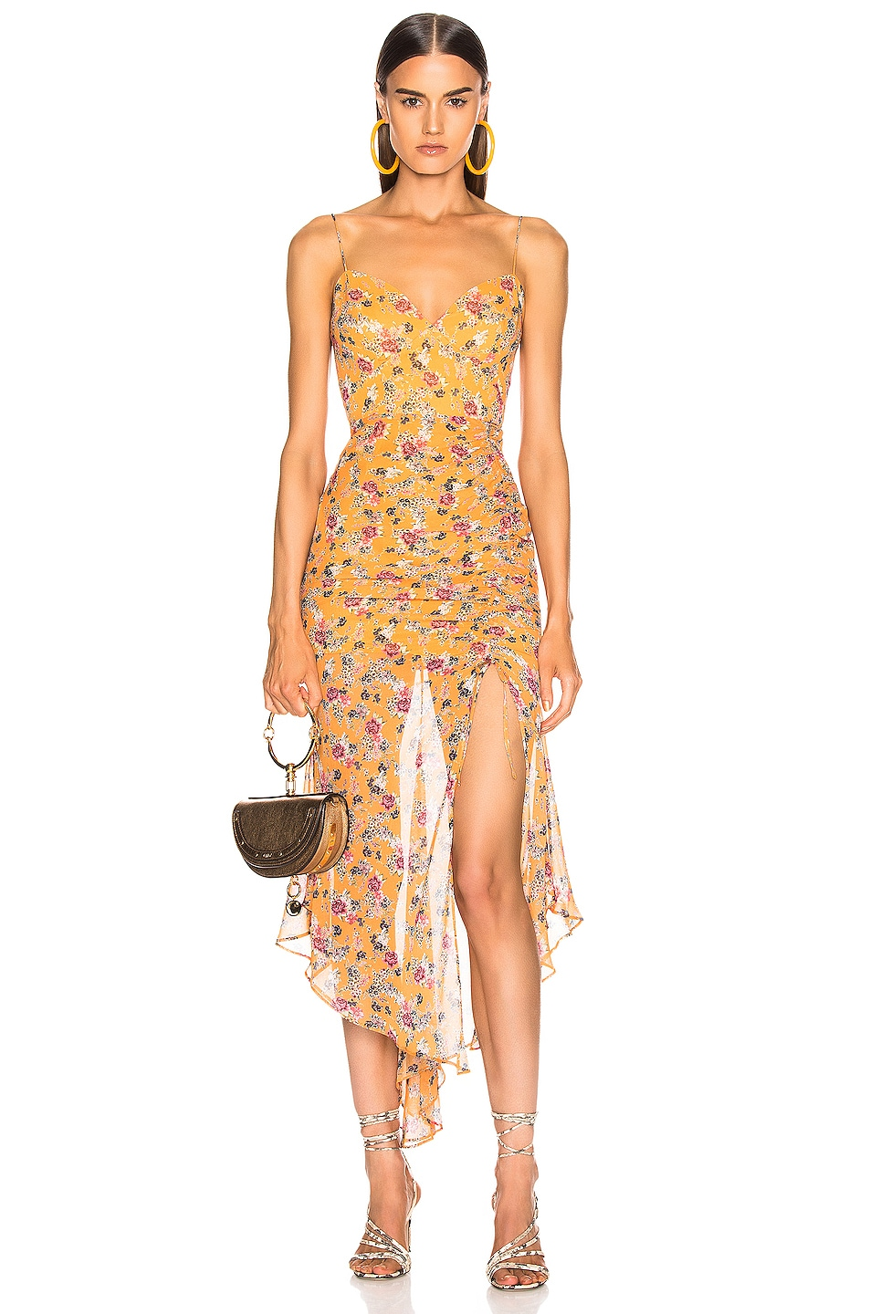 Image 1 of NICHOLAS Drawstring Dress in Honey Multi