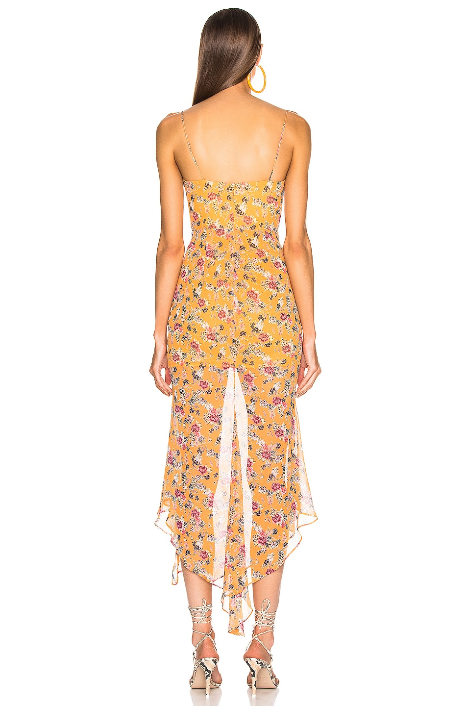 Image 4 of NICHOLAS Drawstring Dress in Honey Multi