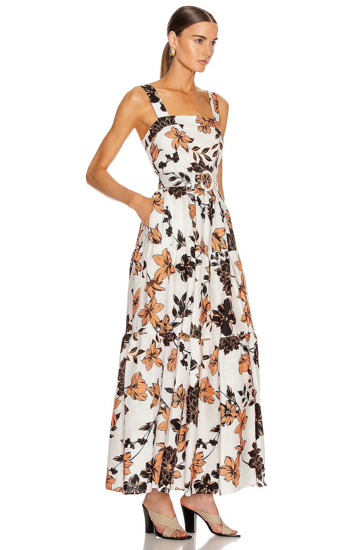 Image 2 of NICHOLAS Tiered Maxi Dress in Sepia Multi