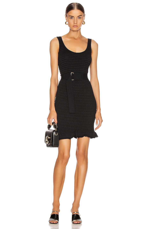 Image 1 of NICHOLAS Knit Smocked Mini Dress in Black