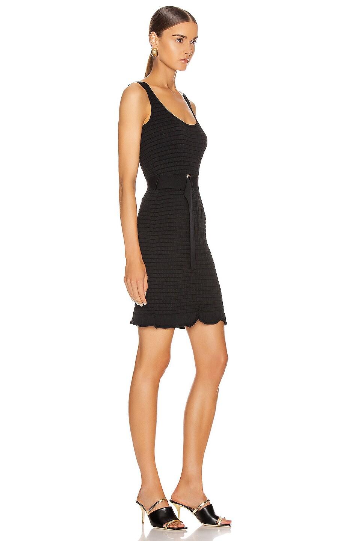 Image 2 of NICHOLAS Knit Smocked Mini Dress in Black