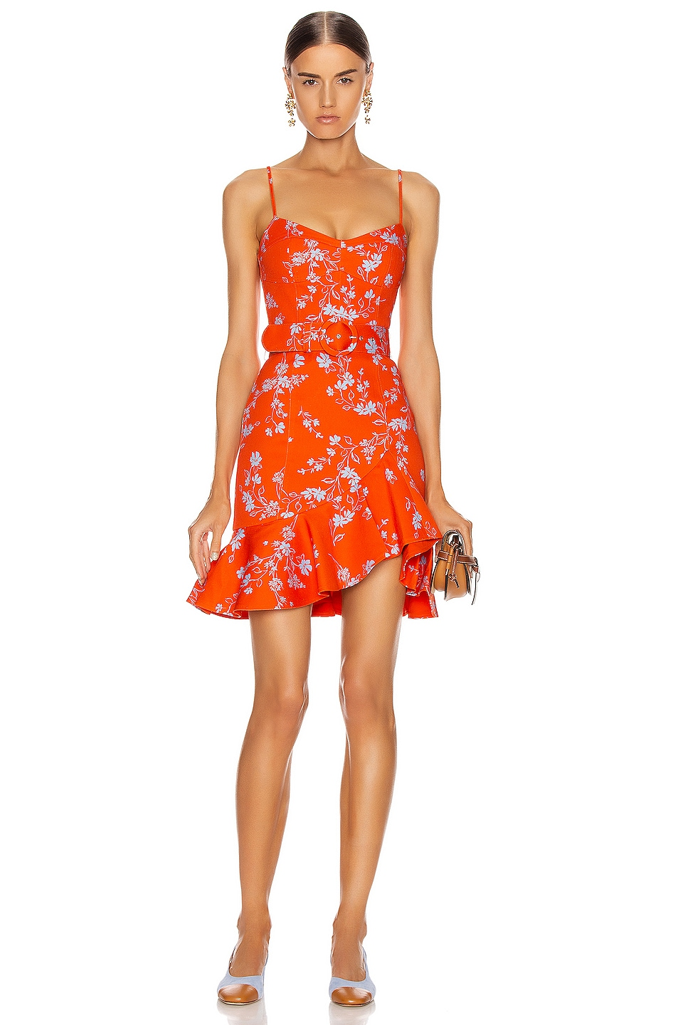 Image 1 of NICHOLAS Arielle Floral Frill Dress in Poppy Multi