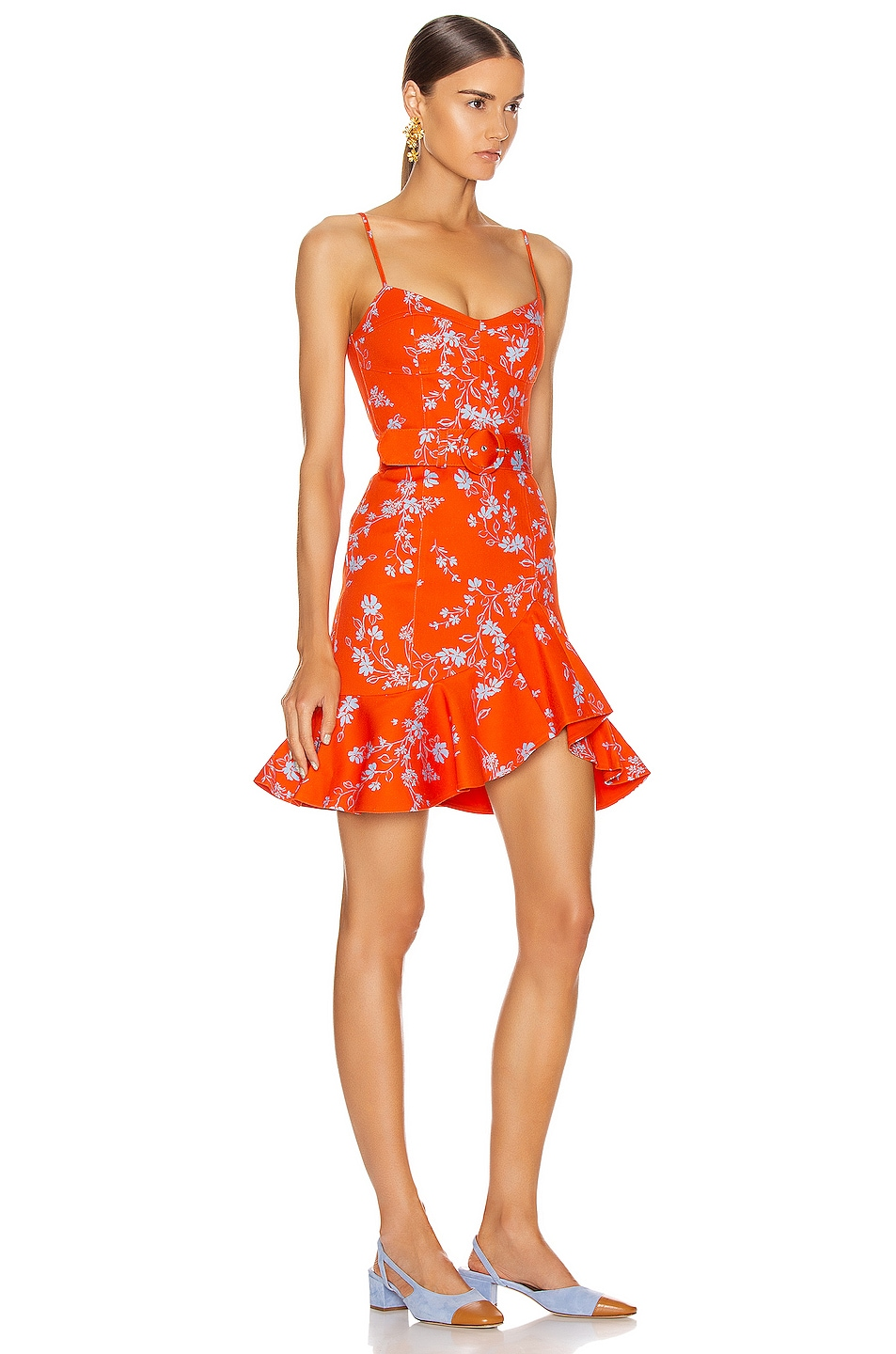 Image 2 of NICHOLAS Arielle Floral Frill Dress in Poppy Multi