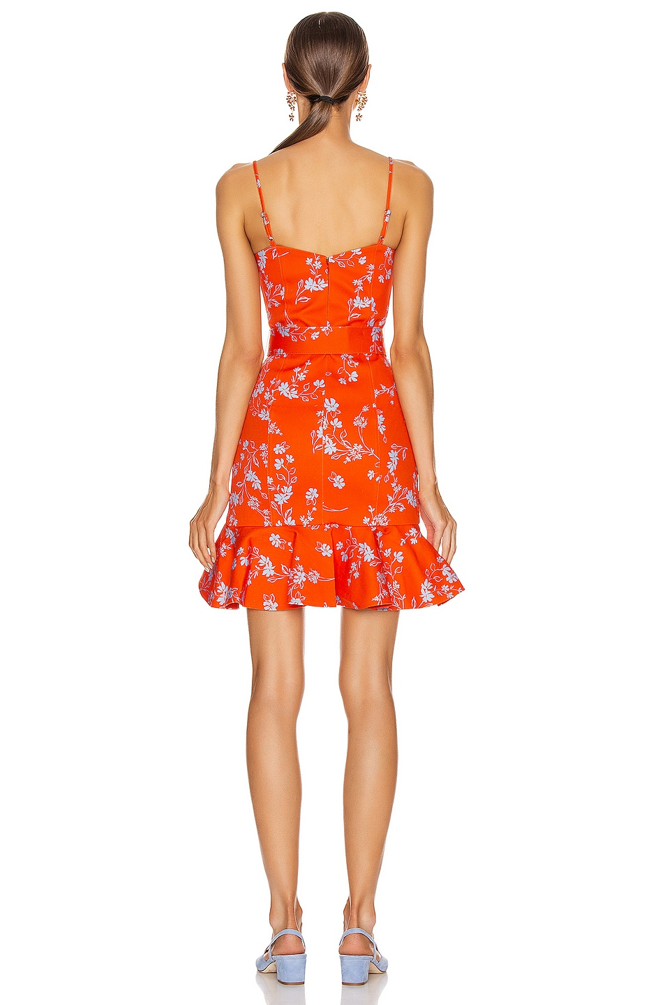 Image 3 of NICHOLAS Arielle Floral Frill Dress in Poppy Multi