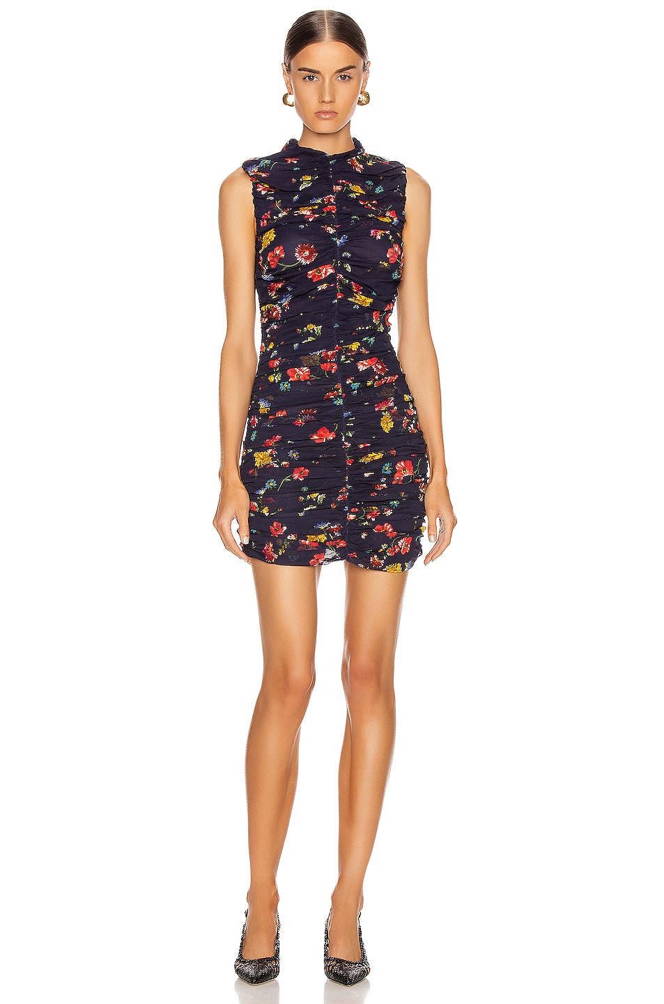 Image 1 of NICHOLAS Gathered Mini Dress in Midnight Multi