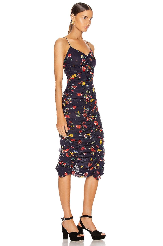 Image 2 of NICHOLAS Gathered Slip Dress in Midnight Multi