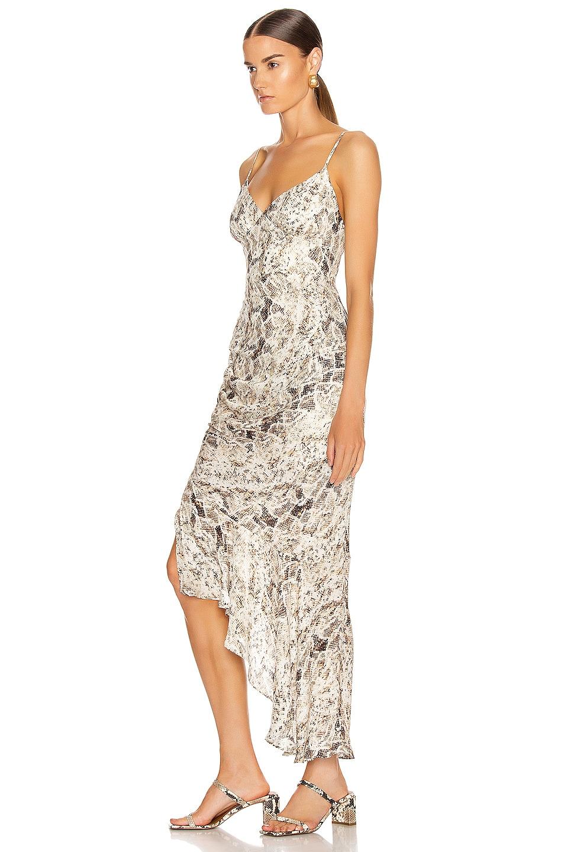 Image 3 of NICHOLAS Triangle Top Slip Dress in Brown Multi