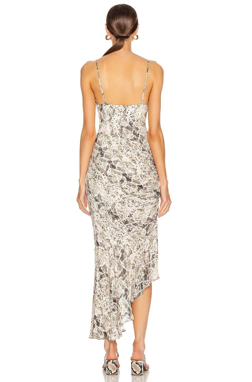 Image 4 of NICHOLAS Triangle Top Slip Dress in Brown Multi