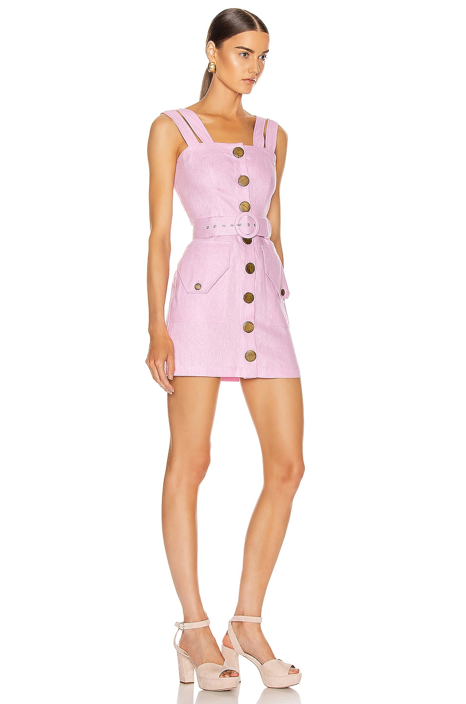 Image 2 of NICHOLAS Button Up Mini Dress in Orchid