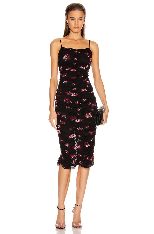 Image 1 of NICHOLAS Gathered Slip Dress in Mulberry Multi
