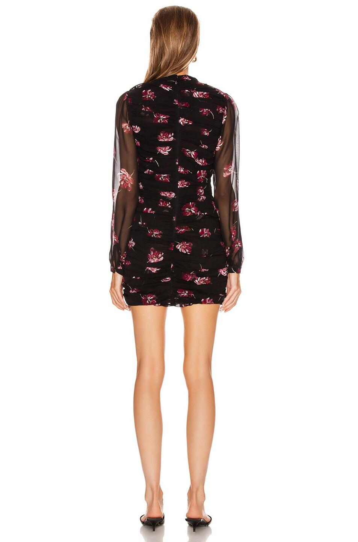 Image 3 of NICHOLAS Gathered Mini Dress in Mulberry Multi