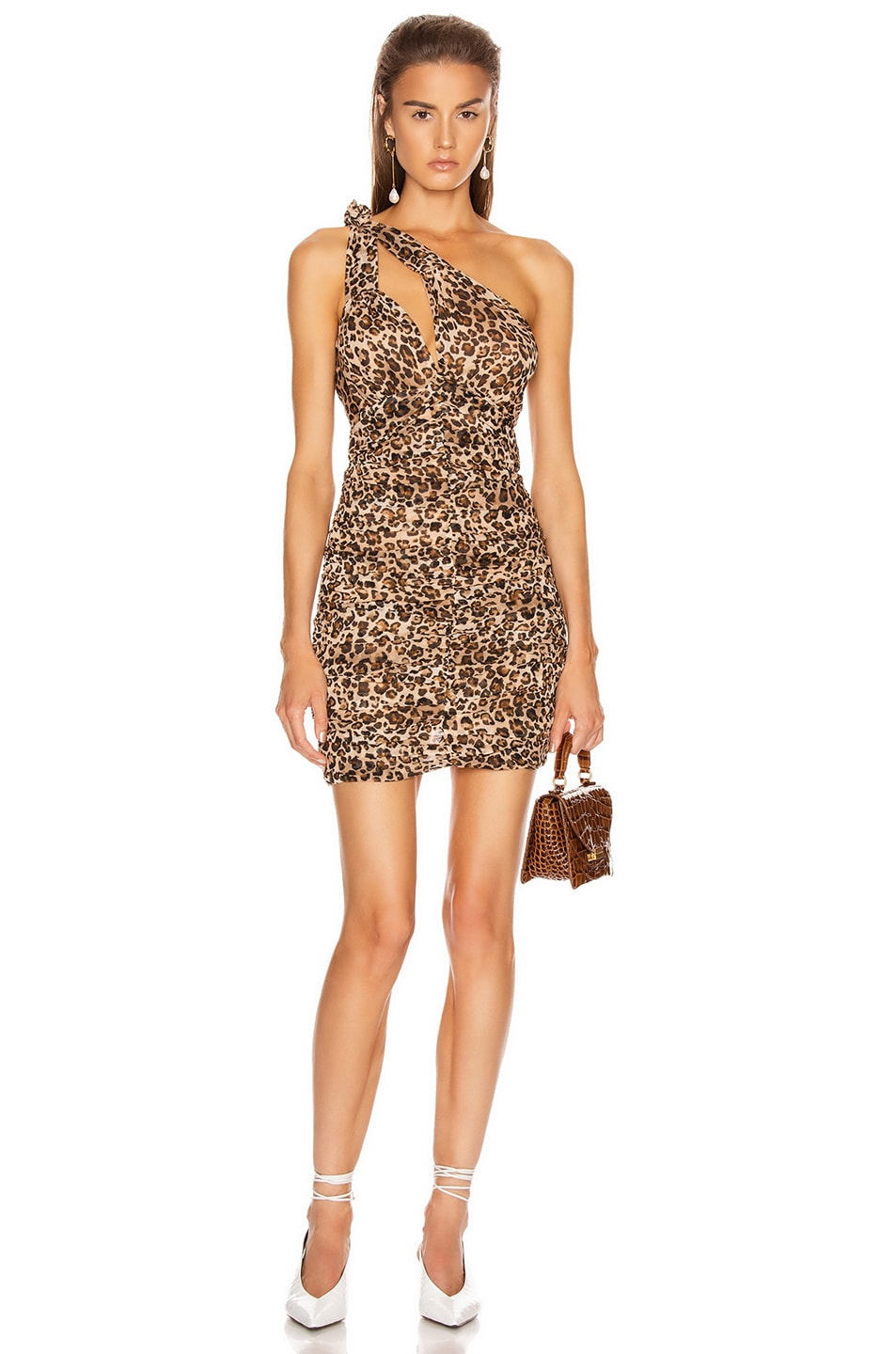 Image 1 of NICHOLAS Knot Dress in Wheat Multi