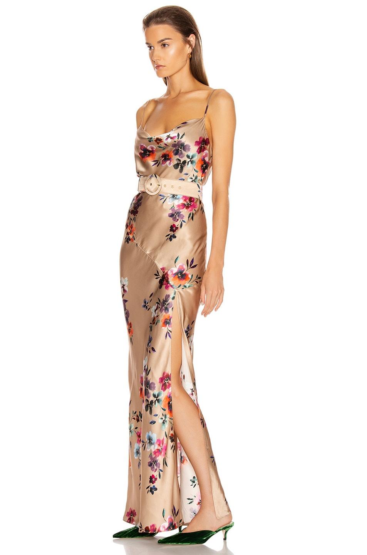 Image 3 of NICHOLAS Simone Dress in Taupe