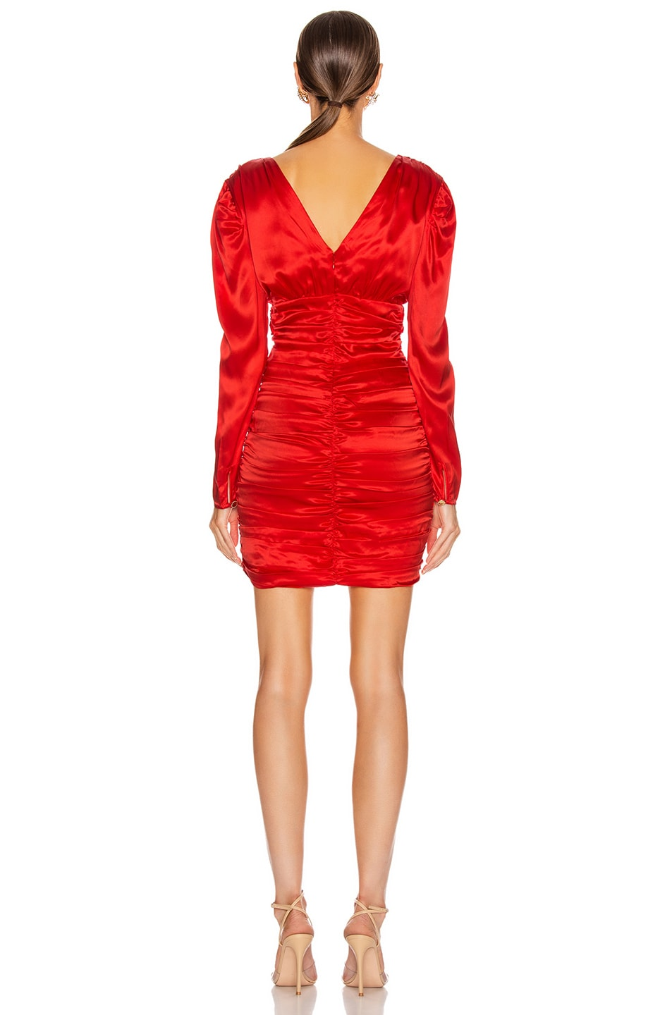 Image 3 of NICHOLAS Gathered Party Dress in Scarlet
