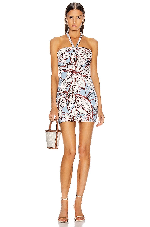 Image 1 of NICHOLAS Tiffany Dress in Mocha Etched Floral
