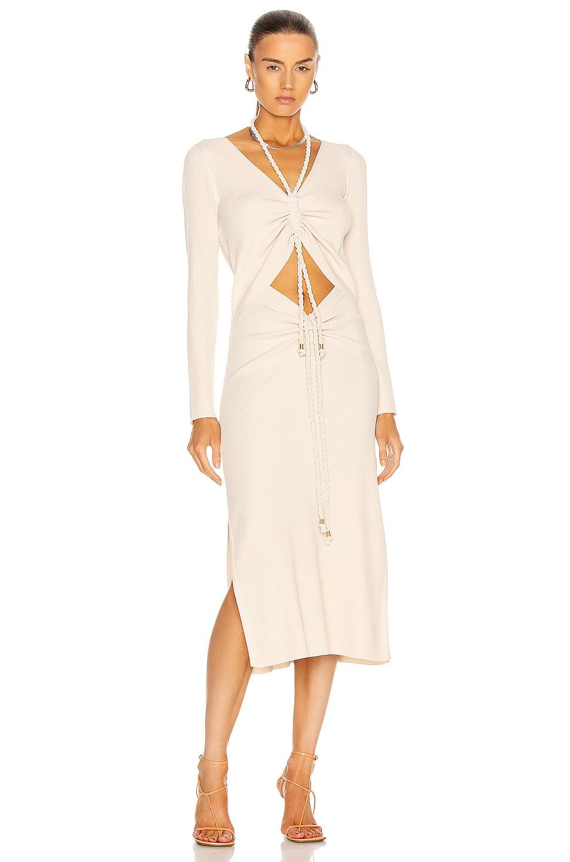 Image 1 of NICHOLAS Luisa Dress in Milk